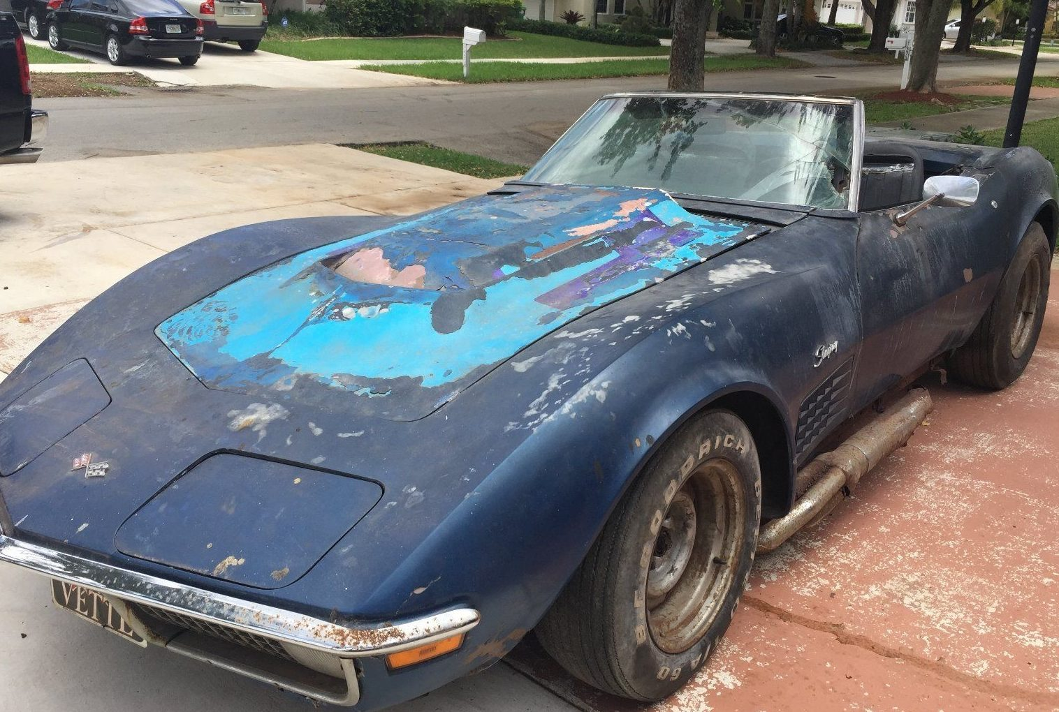 Corvette Car Cover >> Bridgehampton Blue: 1971 Chevy Corvette