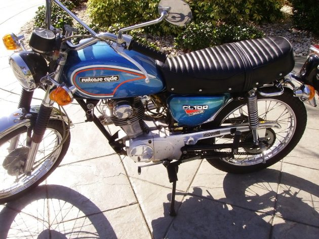 Hondas For Sale >> Foldable Flyer: 1973 Honda CL100 Suitcase Cycle