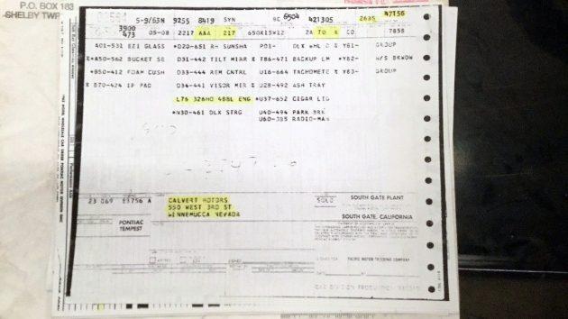 1963 Pontiac Le Mans Papers