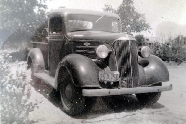 Old Photo Of 1937 Chevy Truck