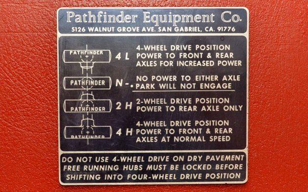 Pathfinder Four Wheel Drive