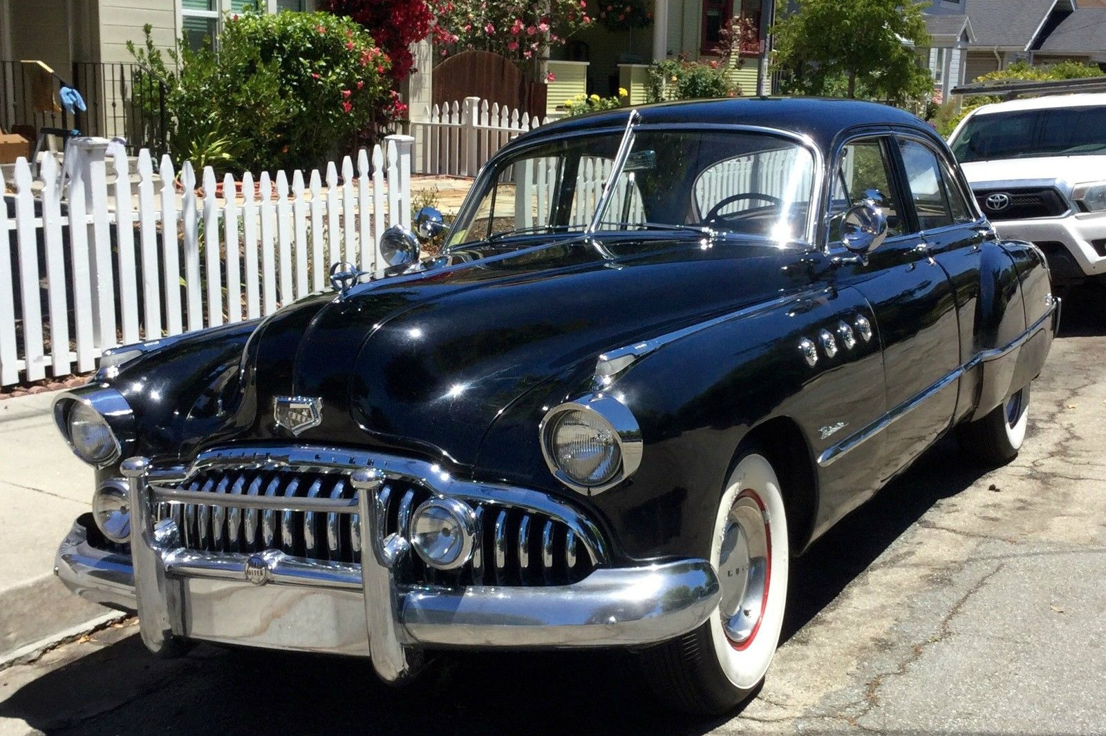 black and chrome original 1949 buick roadmaster. Black Bedroom Furniture Sets. Home Design Ideas