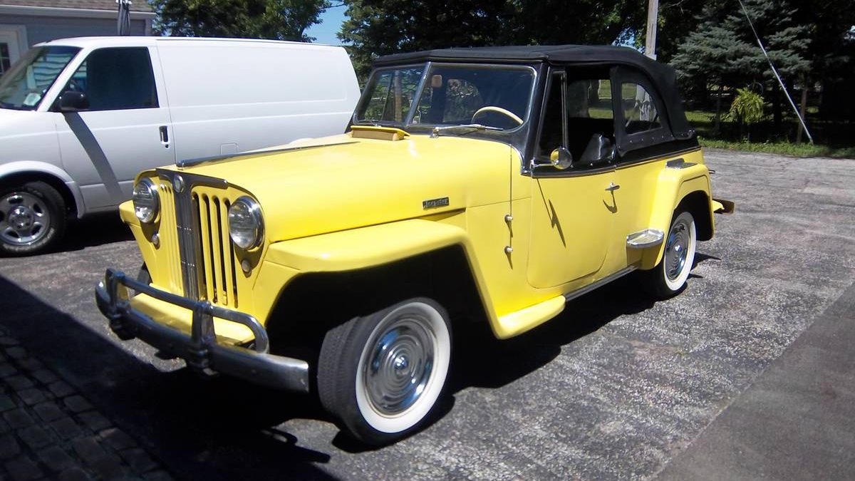 Yellow And Mellow 1949 Willys Jeepster
