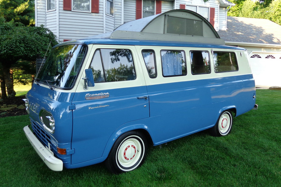 Very Rare Early RV Ford Econoline Travel Wagon