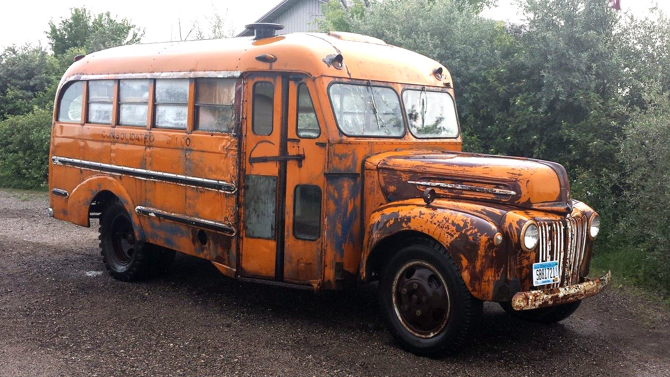 Ran When Parked 1947 Ford School Bus