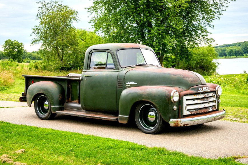 the way to build rough finds 1951 gmc truck. Black Bedroom Furniture Sets. Home Design Ideas