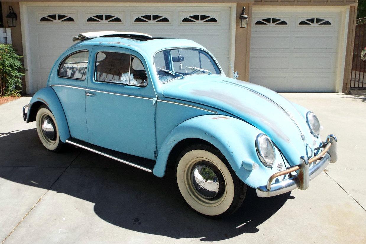 Oval window ragtop 1957 vw beetle for 1957 oval window vw bug