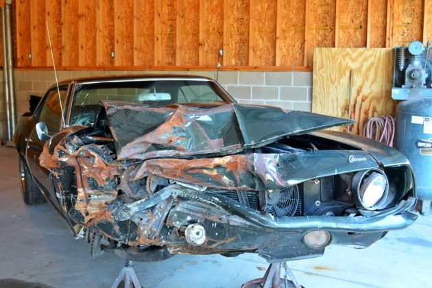 Wrecked 1969 Camaro Ss396 Project
