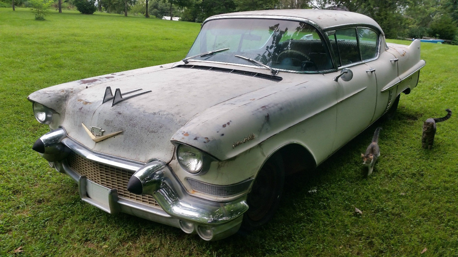won't last long! 1957 cadillac sedan deville