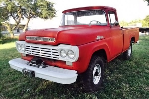Cummins Powered 1959 Ford F 100 4x4 Diesel