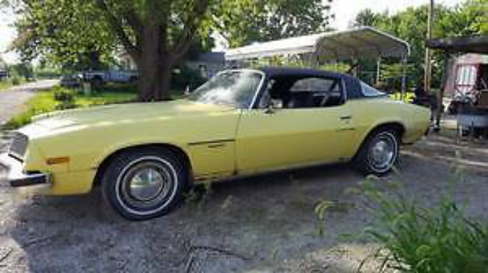 Plain Yellow Wrapper 1975 Chevrolet Camaro