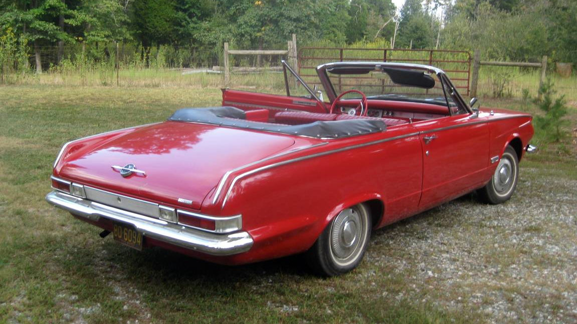 Little Red Convertible 1963 Plymouth Valiant