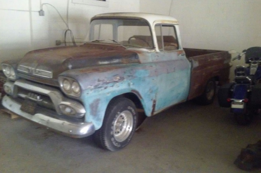 Turquoise Gem 1958 Gmc 100 Deluxe Pickup
