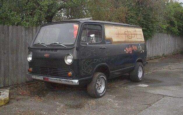 Roadside Sighting Custom Chevy Van