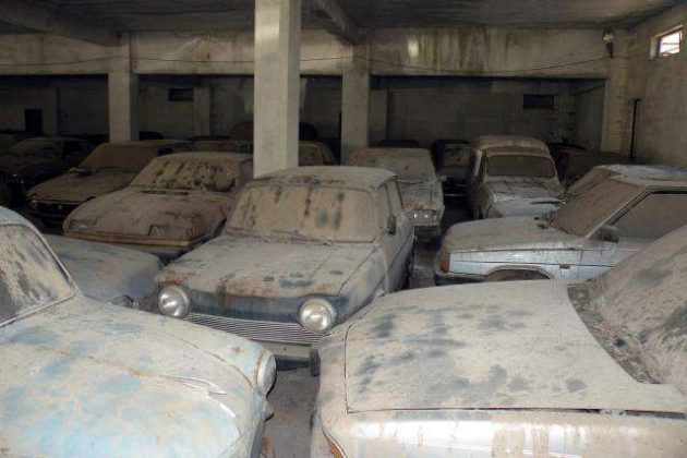 Abandoned Warehouse Full Of Cars Found In Italy