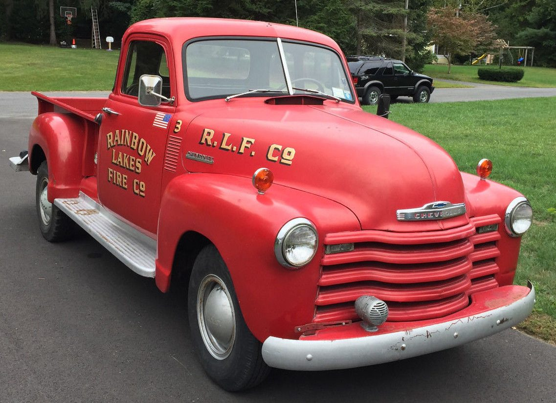 Little Red Fire Truck: 1952 Chevy Pickup