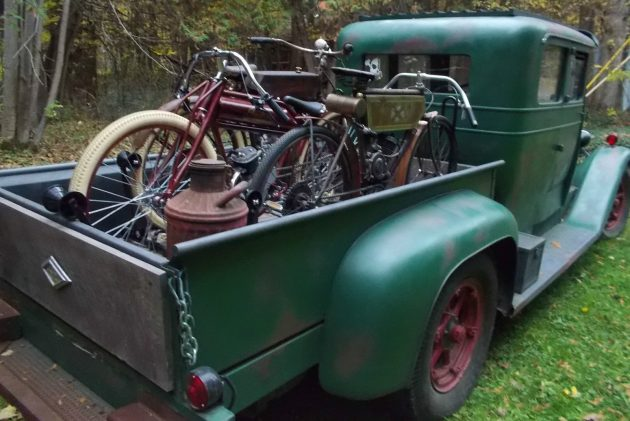 Motorcycles Included: 1933 Diamond T Pickup