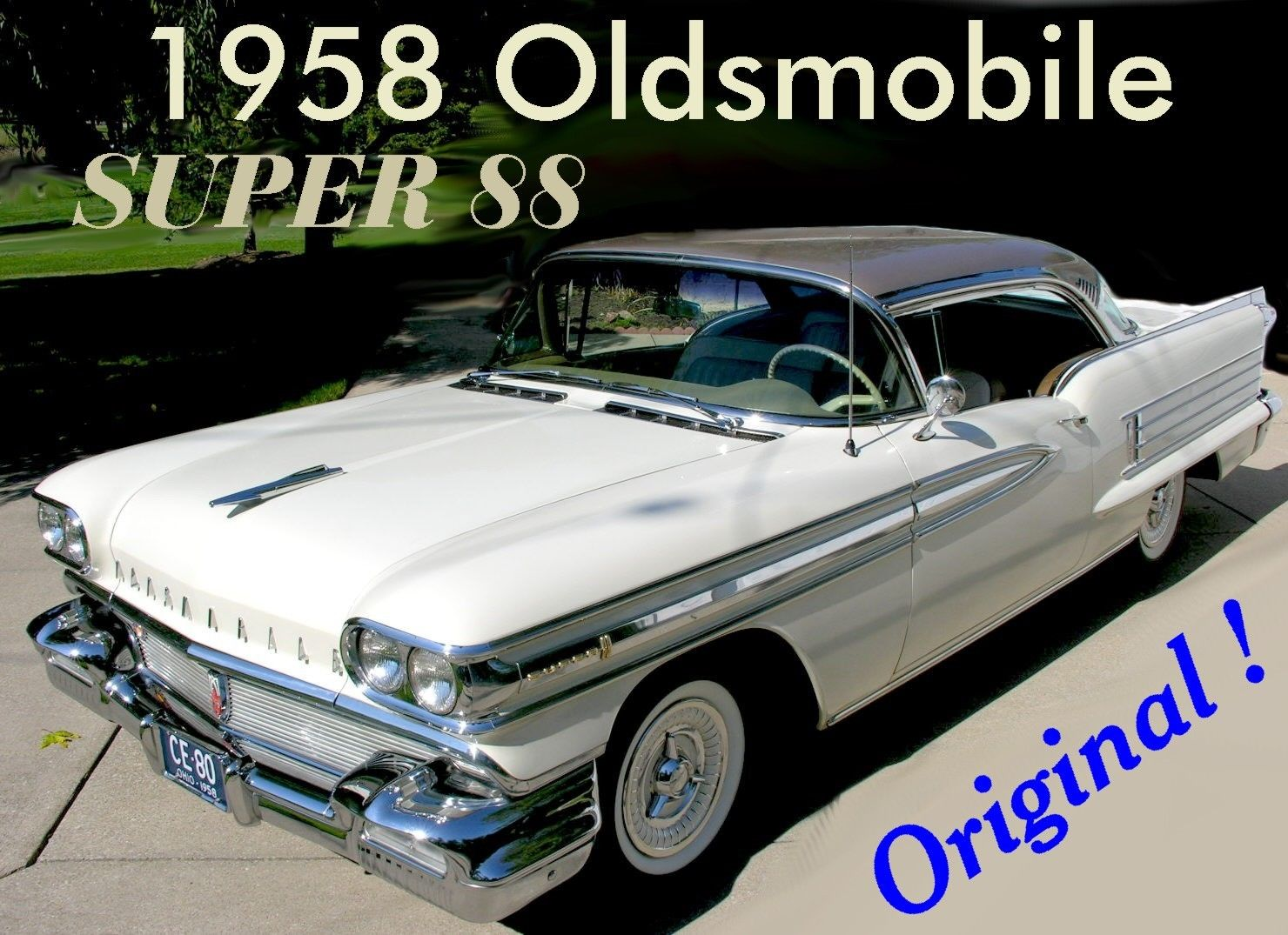 Super Original 1958 Olds Super 88 Holiday Coupe
