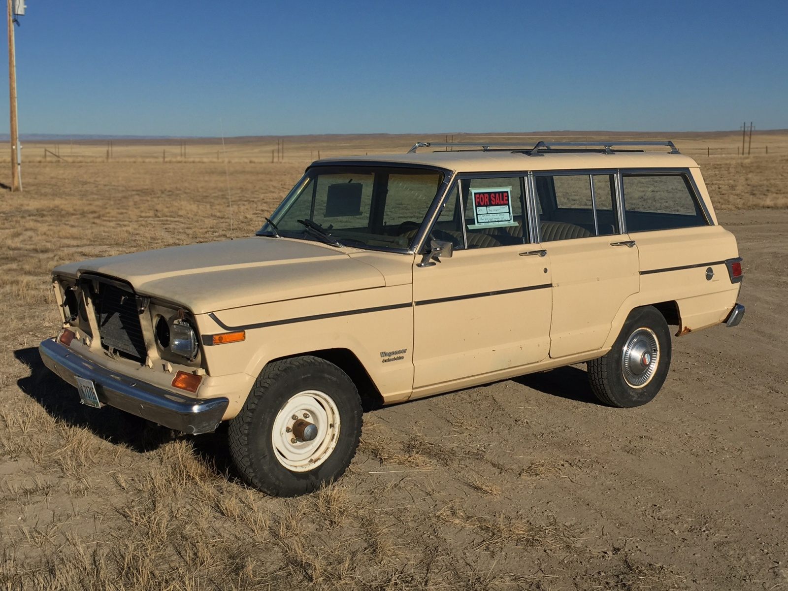 wyoming roadside find 1979 jeep wagoneer. Black Bedroom Furniture Sets. Home Design Ideas