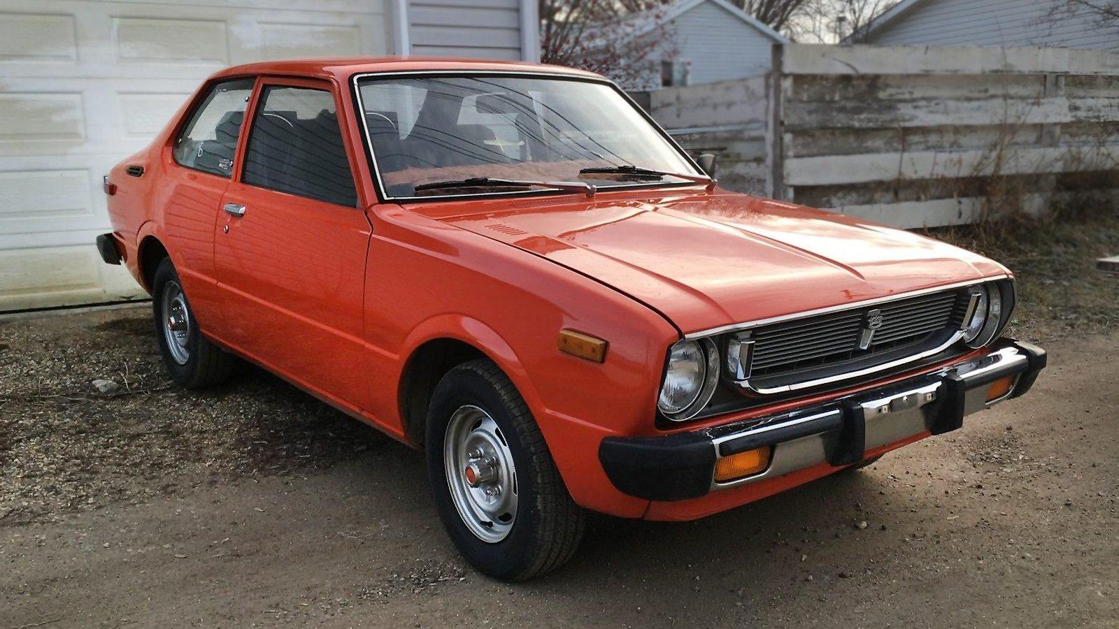 Orange You Glad 1976 Toyota Corolla Deluxe