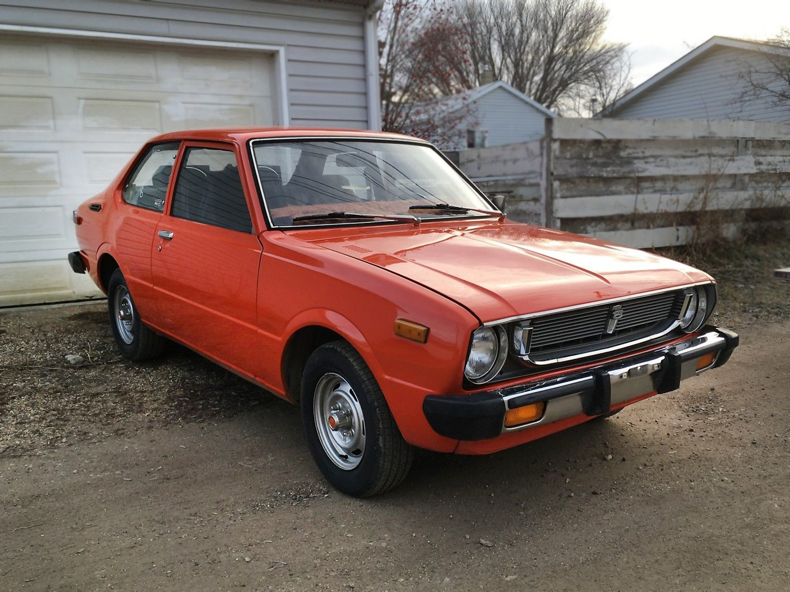 Orange You Glad 1976 Toyota Corolla Deluxe