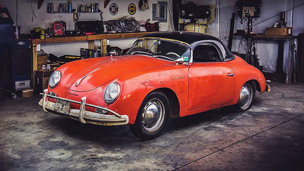 1957 porsche 356a speedster garage find for Garage finder