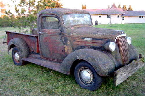 Saved From The Woods: 1937 Chevrolet Master Pickup