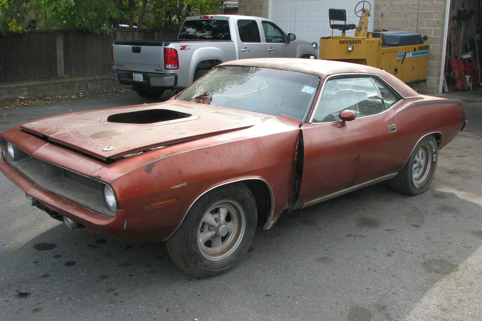 440 6 Pack Amp Rust 1970 Barracuda