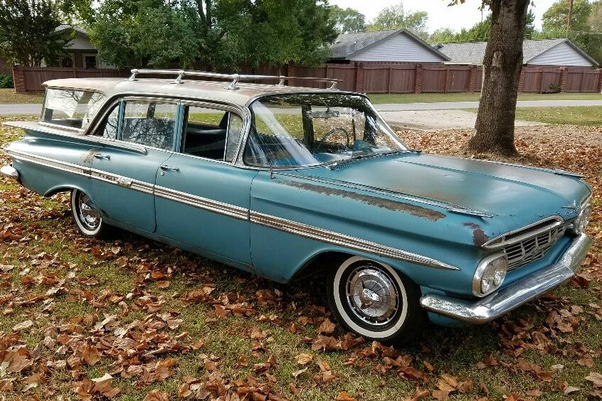 stored 47 years  1959 chevrolet nomad