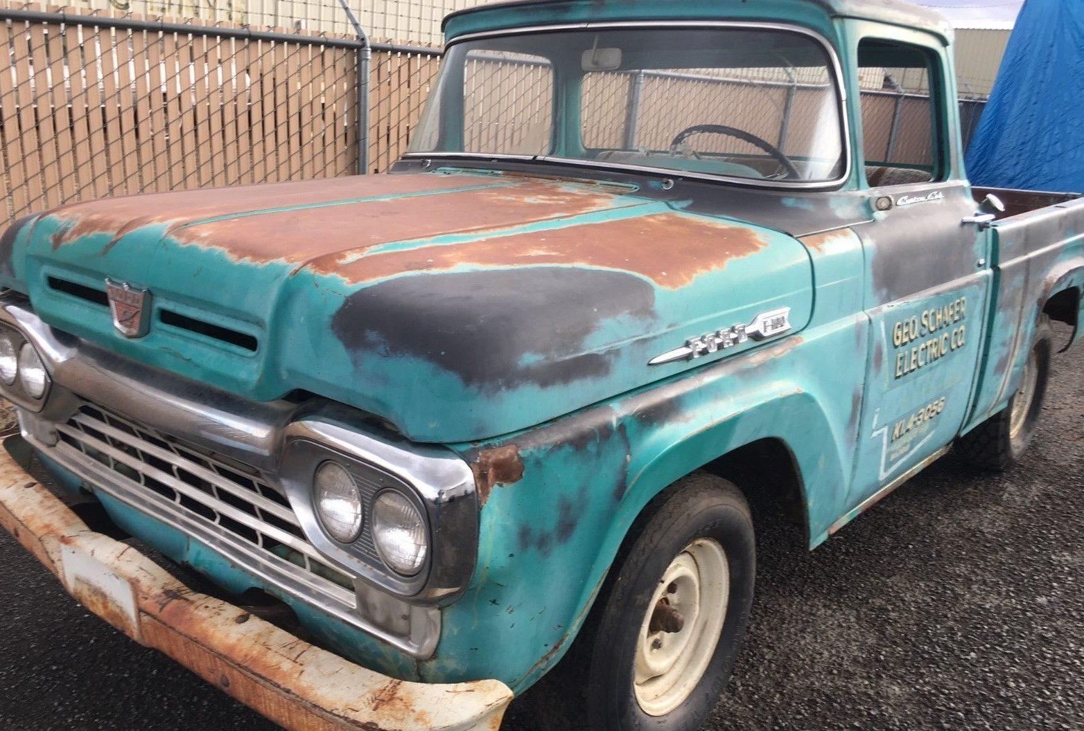 Big Window: 1960 Ford F-100 + Parts Truck