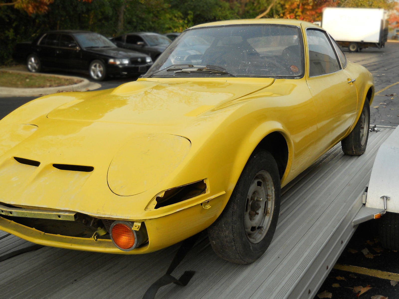 The seller says that they have all of the hard-to-find trim pieces and the  bumpers and everything else to complete this car. Those must have been  taken off ...