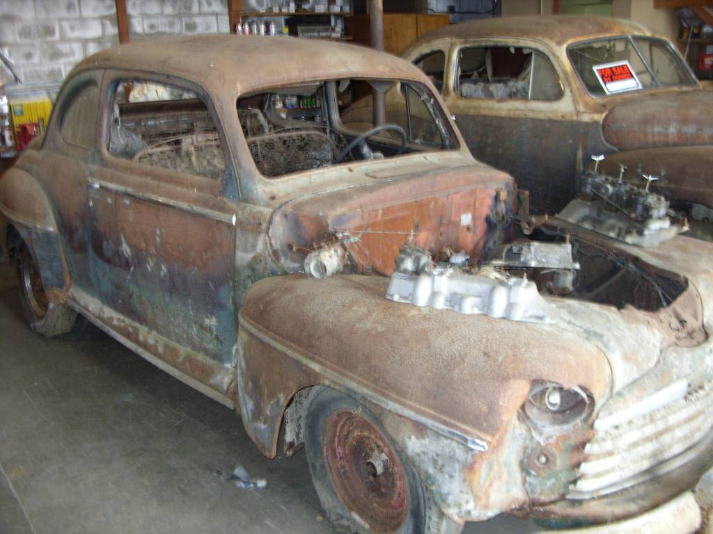 Barn Find Twins: 1947 And 1948 Ford Club Coupes