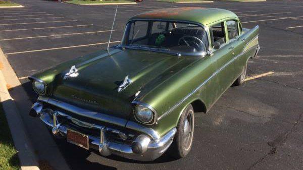 2-Tone Green Tri-Five! 1957 Chevy 210