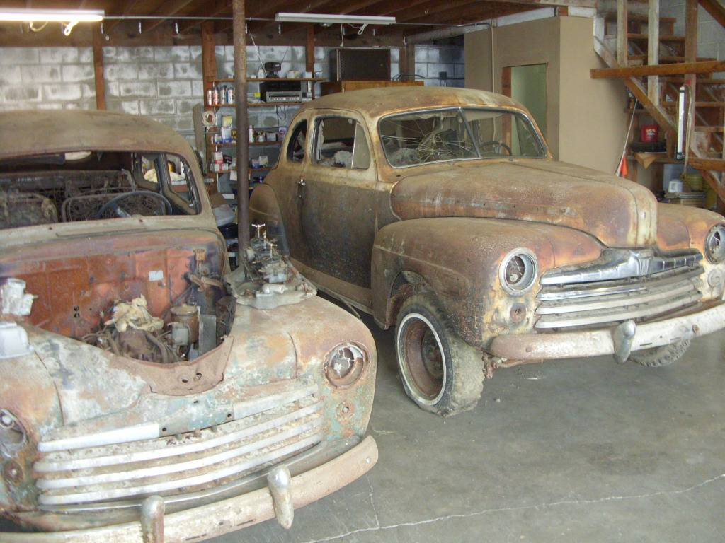 Barn Find Twins 1947 And 1948 Ford Club Coupes