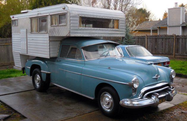 rocket camper  converted 1950 oldsmobile 88