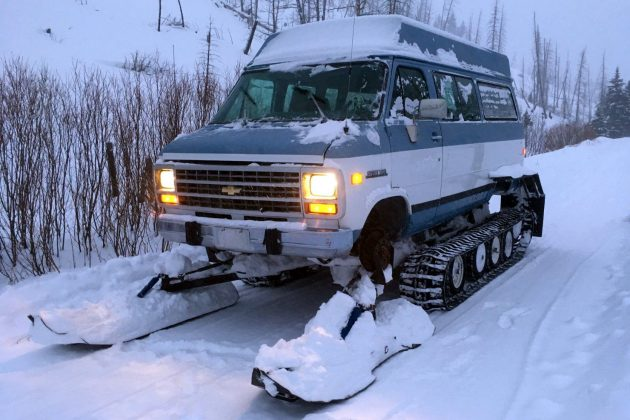 Very Attractive: 1993 Chevrolet Snowcat Track Van