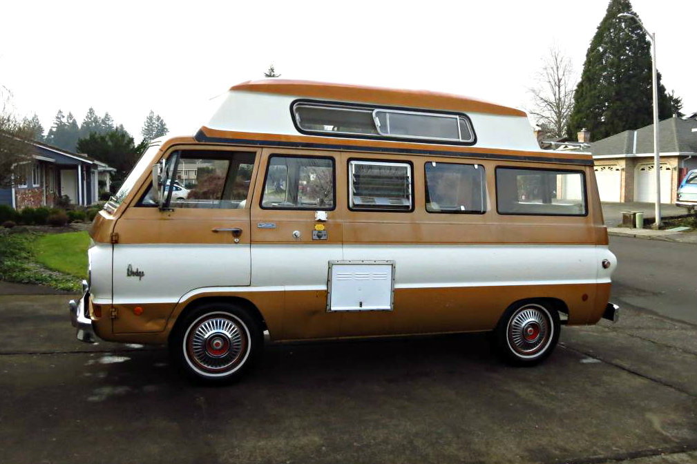 Ready To Camp 1969 Dodge A100 Sportsman Camper