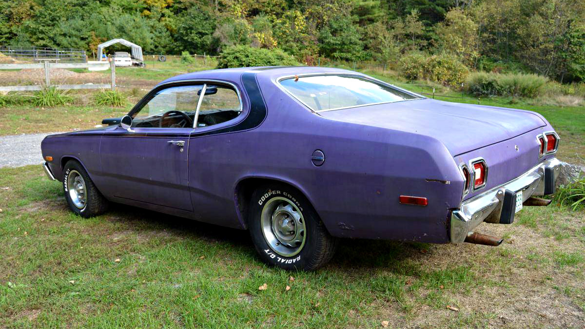 Plum Crazy Original 1973 Dodge Dart Sport 340 Mopar Wiring Harness Truck I Am Also Not A Fan Of The Aftermarket Tachometer Shifter Or Loose Dangling From Dash Although All These Items Could Be Easily