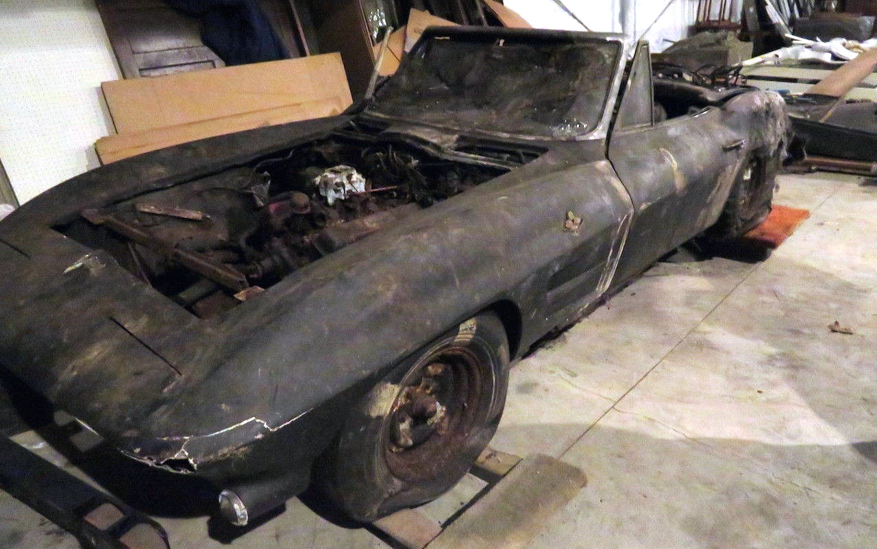 Charred 1963 Corvette Convertible