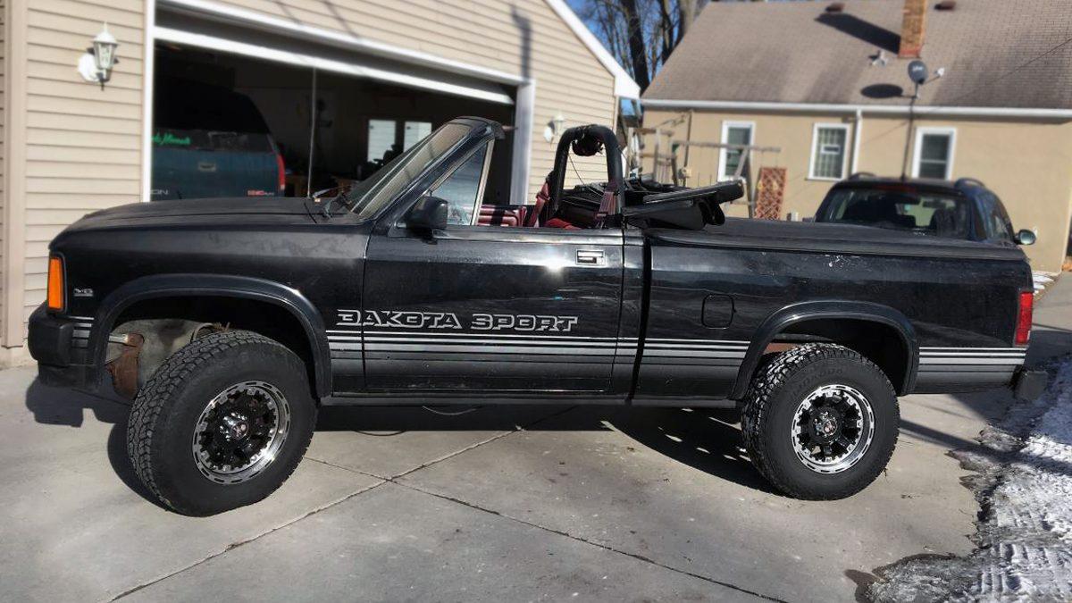 4x4 Ragtop 1989 Dodge Dakota Convertible