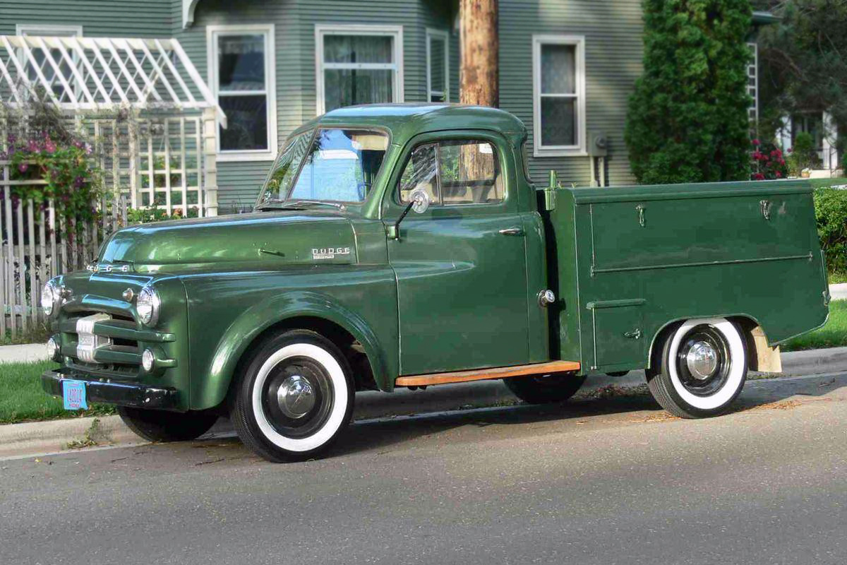 Old Dodge Car With Pickup Bed