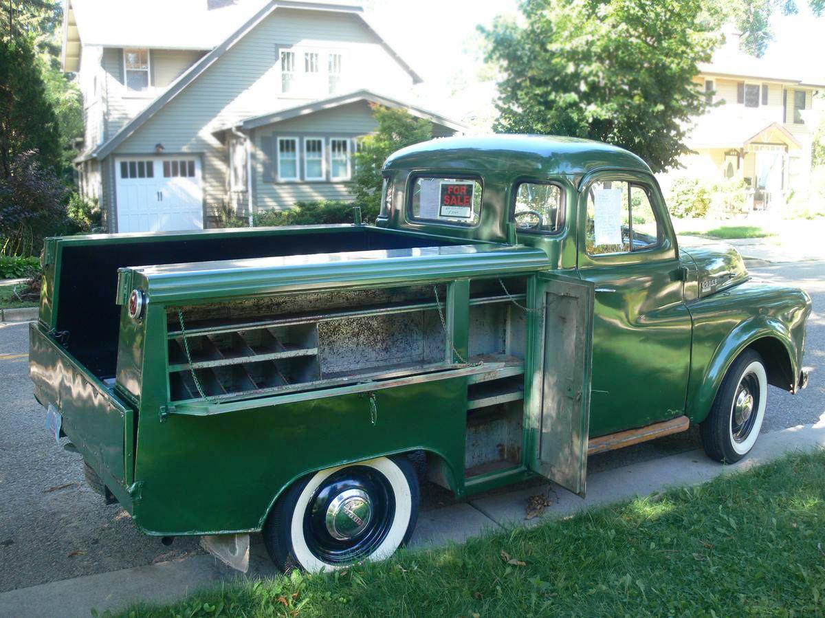 Utility Man: 1953 Dodge B4-B Pickup  1953 Dodge Flatbed Truck