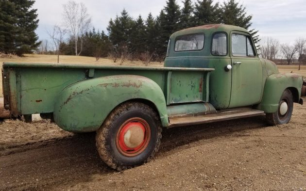 Chevy Topkick Kodiak X C Truck For Sale X moreover Barn Finds Chevrolet Pickup X furthermore Chevy Pickup Running Rolling Chassis Engine besides Ebay besides Ford Coe Custom Built Truck Doorbuild Of The Year Winner F Rat Rod. on 1950 chevy truck cab for sale