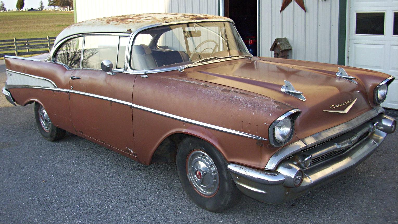 57 Bel Air Fuel Door Wiring Diagrams Factory Diagram For V8 Survivor 1957 Chevrolet Convertible 55
