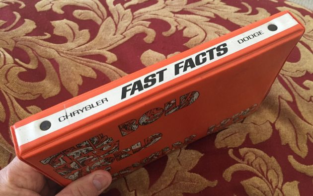 "Seriously Valuable Mopar ""Fast Facts"" Book"