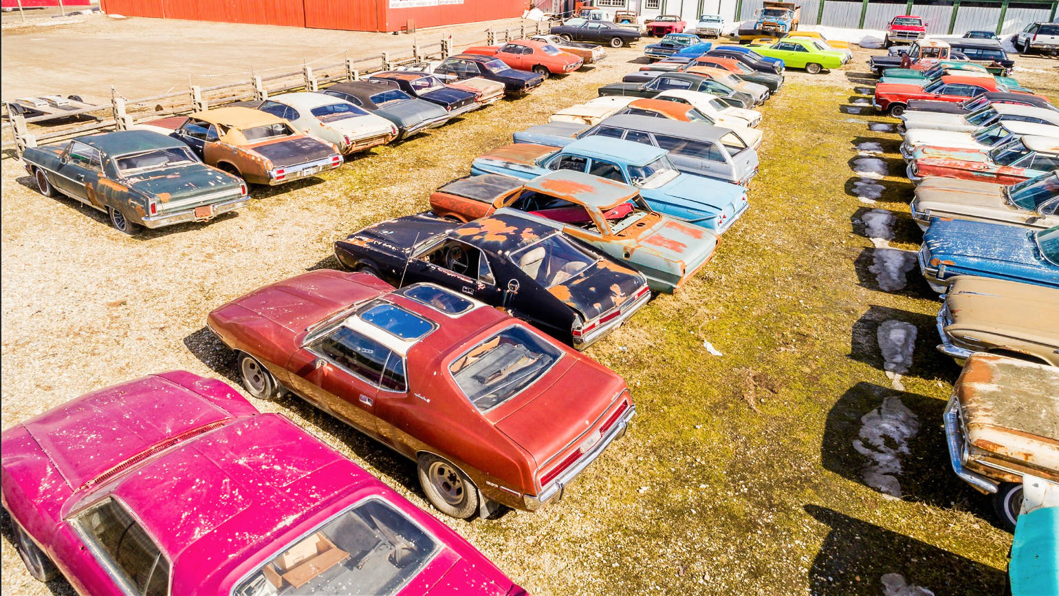 Hundreds Of Muscle Cars On 5 Acres