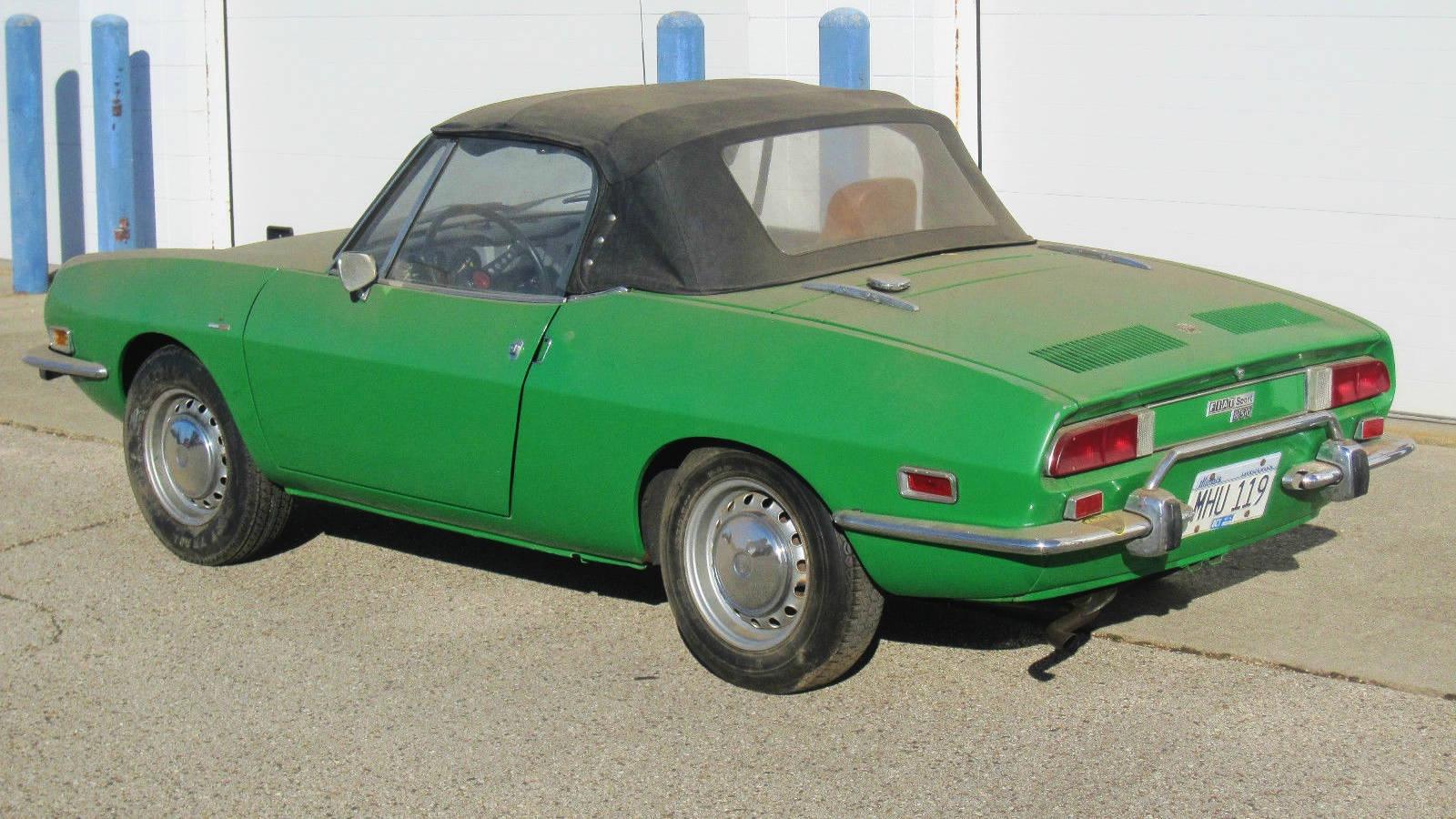 Dusty Little Frog  1972 Fiat 850 Spider