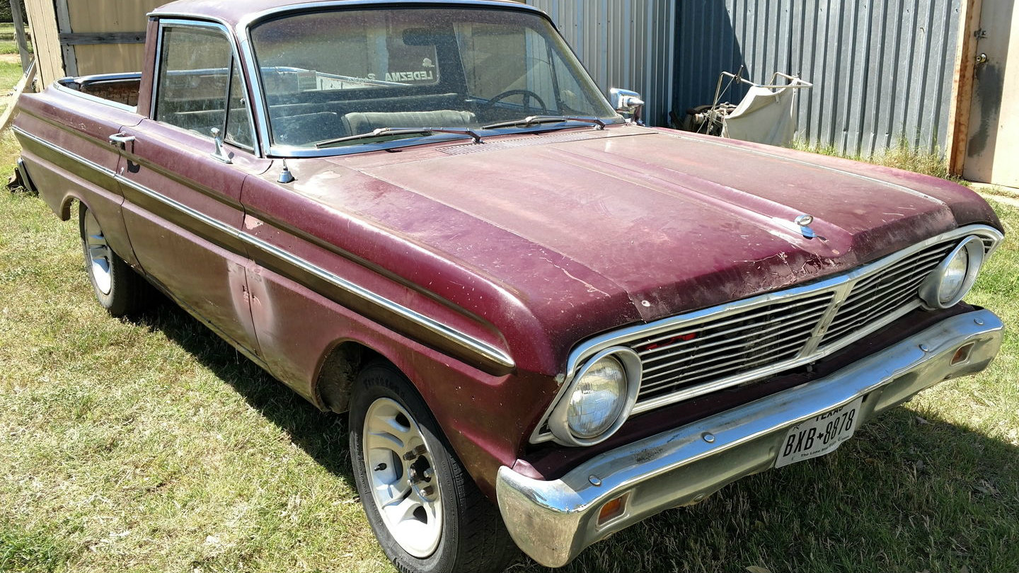 heres a real barn find that has survived the years largely intact i wonder if thats the barn behind the ranchero regardless its a model year 1965 that - 1965 Ford Ranchero Interior