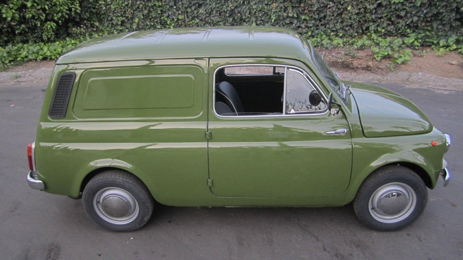 Fiat 500 For Sale >> 1972 Fiat 500 Furgoncino: Ex-TV & Movie Star