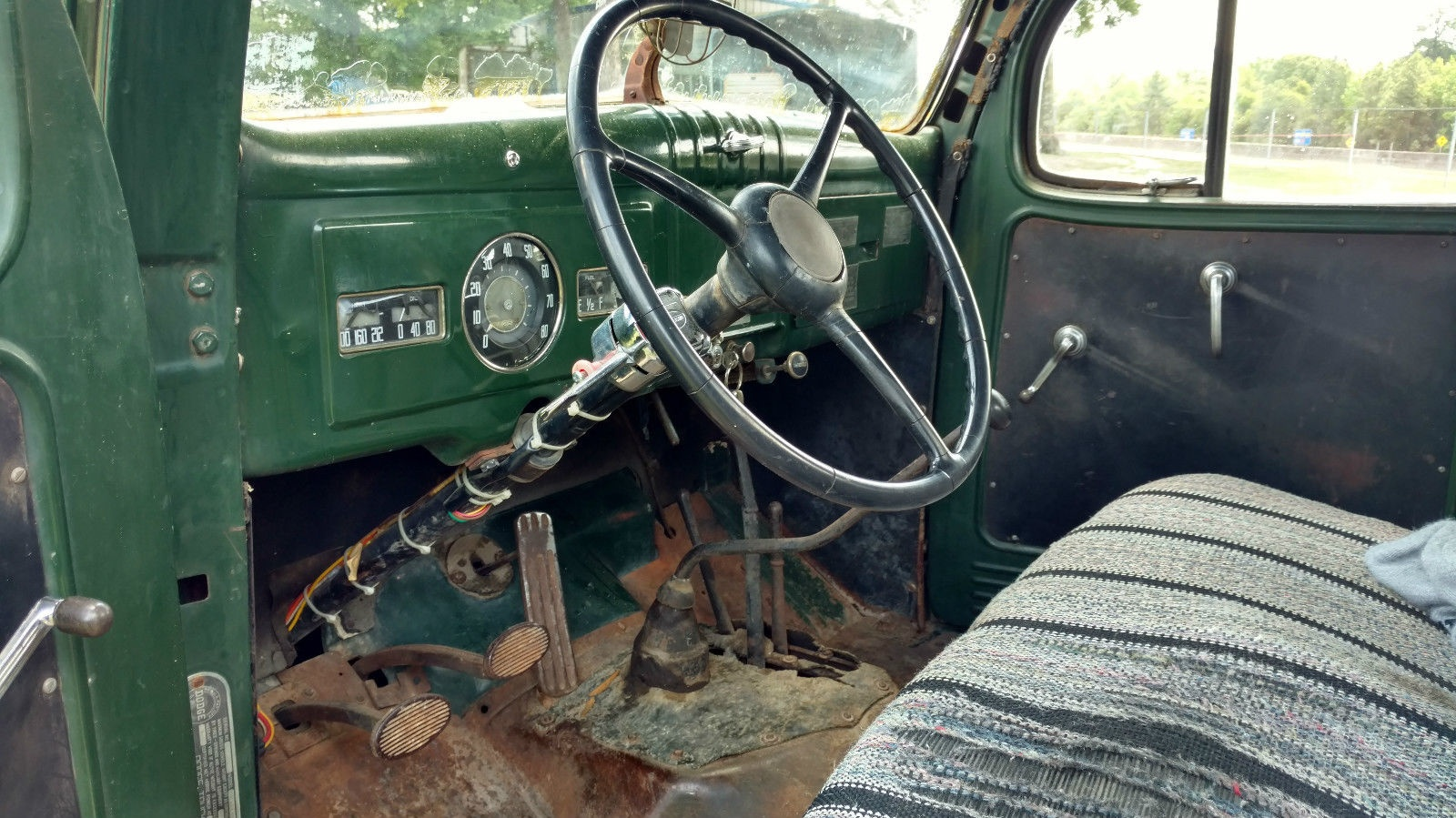Chains Not Included 1949 Dodge Power Wagon Truck Seat The Floor Scares Me A Bit But Above That Things Look Pretty Decent Maybe Good Wire Brushing And Some Por 15 Would Do Trick To Keep Any Rust Under